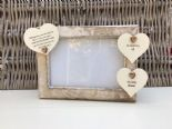 Shabby personalised Chic Photo Frame In Memory Of Wife ~ Loved One ~ Any Names - 332867208737